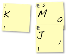 ... write ones on all of the right notes… to the left of whatever code